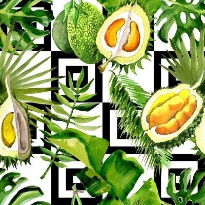 Fototapeta Aquarelle dzikiego kwiatu na tle, tekstury, wzór opakowania, ramki lub obramowania.