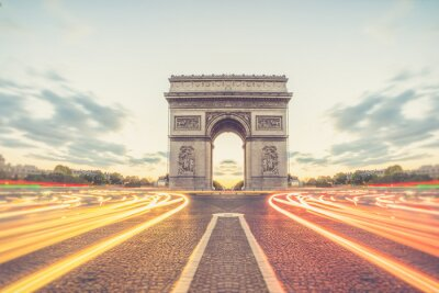 Fototapeta Arc de Triomphe or Arch of Triumph of the Star is one of the mos