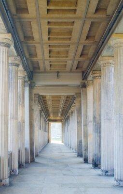 Fototapeta arcade of antique columns decorated