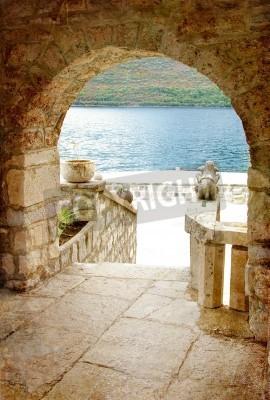 Fototapeta arch view on adriatic island