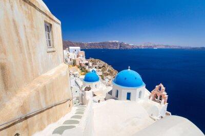 Fototapeta Architektura Oia wsi na wyspie Santorini, Grecja