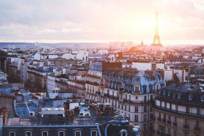 Fototapeta architektura Paryż, Francja, tradycyjnych budynków i ulic