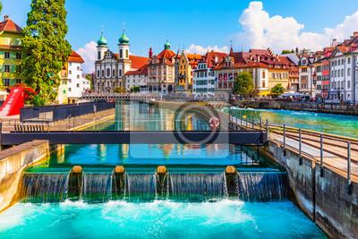 Fototapeta Architektura Starego Miasta w Lucernie, Szwajcaria