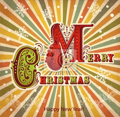 Fototapeta Archiwalne karty Boże Narodzenie