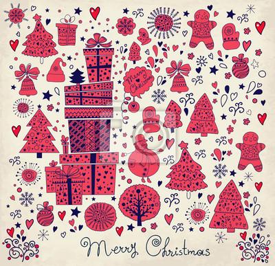 Archiwalne karty Boże Narodzenie z pudełka