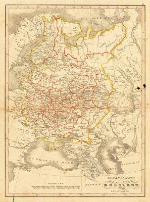 Fototapeta Archiwalne mapy