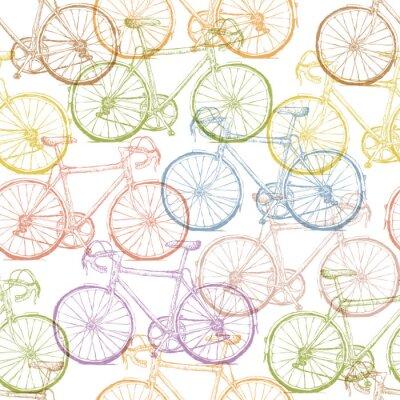 Fototapeta Archiwalne rowerów wyciągnąć rękę bez szwu deseń
