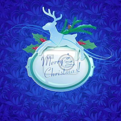 Archiwalne tła z Christmas Deer