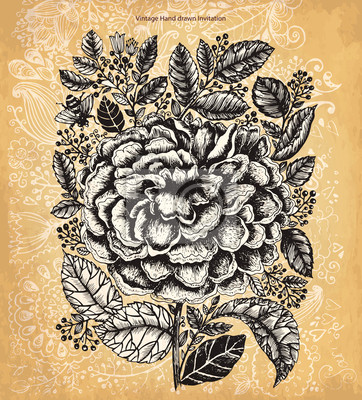 Archiwalne tła z kwiatem