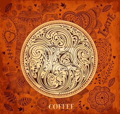 Archiwalne tła z motywem kawy