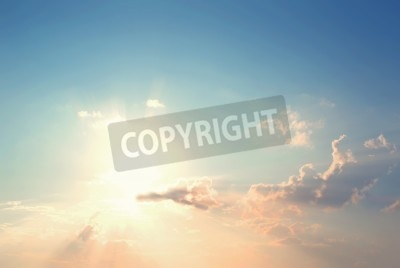 Fototapeta Archiwalne zdjęcie Abstrakcyjne tło natura z nieba w słońca