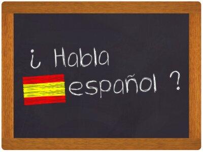 Fototapeta Ardoise - Habla espanol - traduction espagnol