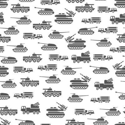 Fototapeta Armii transportu Seamles wzór projektowania - wojskowych tle transportu