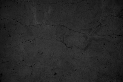 Fototapeta Art black concrete stone texture for background in black. Abstract color dry scratched surface wall grey dark detail covering.
