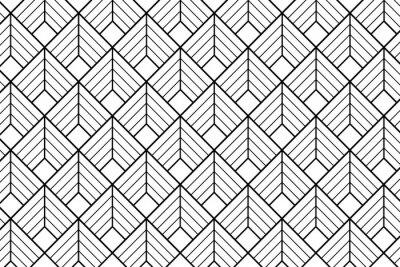 Fototapeta Art deco pattern background - Illustration