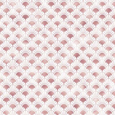 Fototapeta Art Deco Seamless Pattern - Repeating metallic pattern design with art deco motif