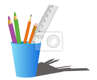 807598d24cd47 Fototapeta Artykuły biurowe lub szkolne supplys na wymiar • cień ...