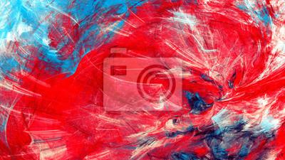 Artystyczna kompozycja kolorystyczna. Streszczenie piękne czerwone i niebieskie tło. Nowożytna futurystyczna chłodno obraz tekstura. Fraktalna grafika do kreatywnego projektowania graficznego