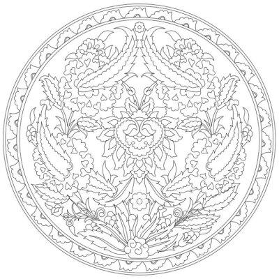Fototapeta artystyczne otomana wzór czterdzieści osiem serii