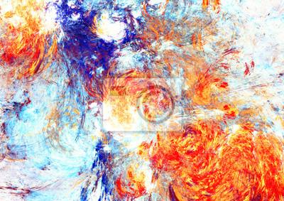 Artystyczne plamy jasnych farb. Abstrakcyjny wzór koloru. Nowoczesne futurystyczne tło dla tapety, wnętrze, album, okładka ulotki, plakat, broszura. Fraktalna grafika do kreatywnego projektowania graf