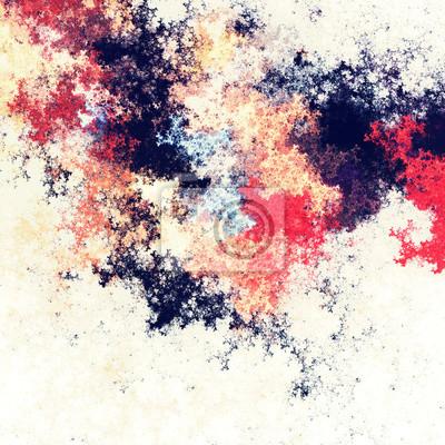 Artystyczne plamy jasnych farb. Streszczenie kolor tła. Nowoczesny futurystyczny wzór. Jasne tekstury malowania. Fraktalna grafika do kreatywnego projektowania graficznego