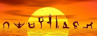 Fototapeta Asany jogi według słońca - renderowania 3D