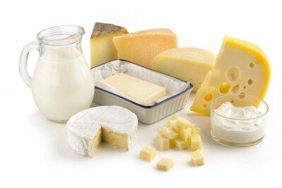 Fototapeta Asortyment produktów mlecznych