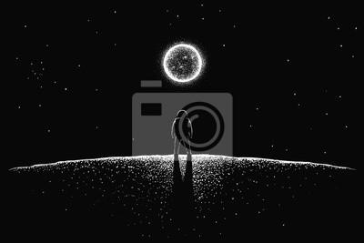 Fototapeta Astronaut on the new planet