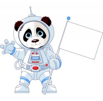 Fototapeta Astronauta Panda