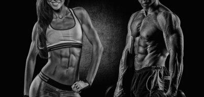 Fototapeta Athletic mężczyzna i kobieta