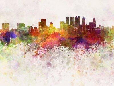 Fototapeta Atlanta skyline w akwarela