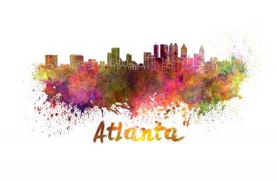 Fototapeta Atlanta skyline w akwareli