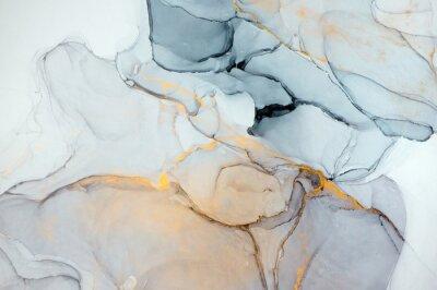 Fototapeta Atrament, farba, streszczenie. Zbliżenie obrazu. Kolorowy obraz abstrakcyjne tło. Wysoko-teksturowana farba olejna. Wysokiej jakości detale. Atrament alkoholowy nowoczesne malarstwo abstrakcyjne, wspó
