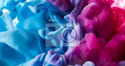 Fototapeta Atrament kropla w wodnym tle