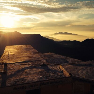 Fototapeta Aube au sommet