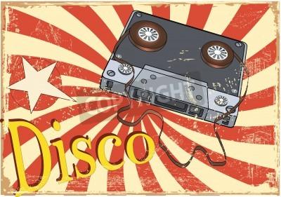 Fototapeta Audio cassette and the poster
