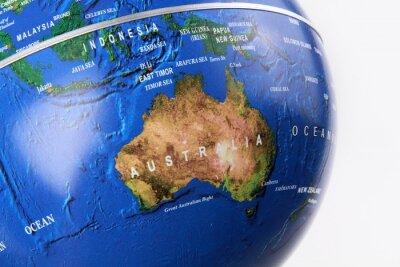 Fototapeta Australia, mapa, Globe.