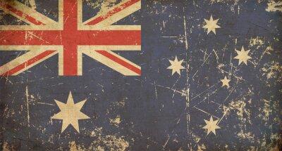 Fototapeta Australijska Aged Flat Flag
