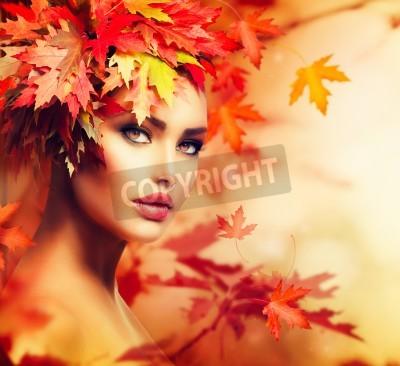 Fototapeta Autumn Woman Portrait  Beauty Fashion Model Girl