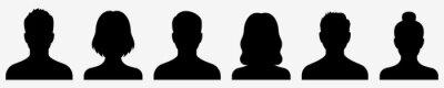 Fototapeta Avatar icon. Profile icons set. Male and female avatars. Vector illustration