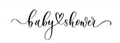 Fototapeta Baby Shower. Wavy elegant calligraphy spelling for decoration on holidays.