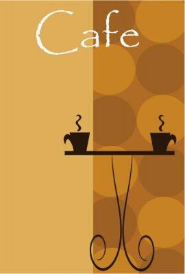 Fototapeta Background Cafe