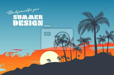 Fototapeta Background for your summer design