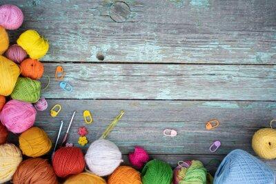 Fototapeta background of coils of yarn for knitting