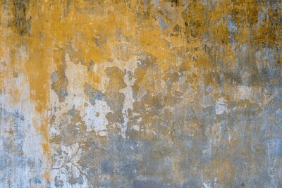 Fototapeta Background of old yellow painted wall texture