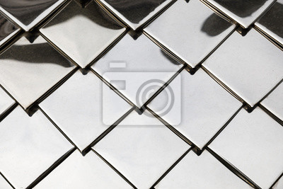Fototapeta Background of the metal plates. Abstract silver metal background