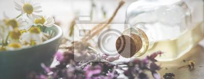 Fototapeta Backround-header for natural cosmetics, wellness or homeopathy