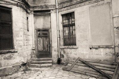 Fototapeta Backyard na Starym Mieście w Łodzi