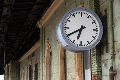 Fototapeta Bahnhofsuhr