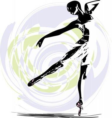 Fototapeta Baletnica ilustracji